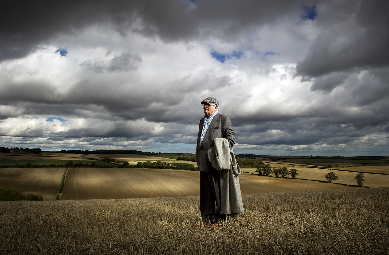 JohnnyMillar_Photography_Portrait_David Hockney North Yorkshire Autumn 2011